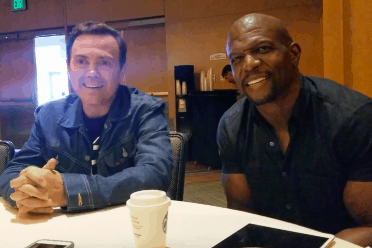 Brooklyn Nine Nine Joe Lo Truglio And Terry Crews Discuss Playdates And Male Self Care Video Tell Tale Tv