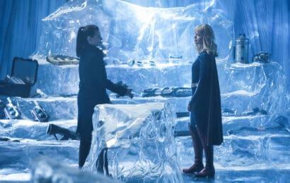 Supergirl Season 5 Episode 7 - Katie McGrath as Lena Luthor and Melissa Benoist as Kara/Supergirl