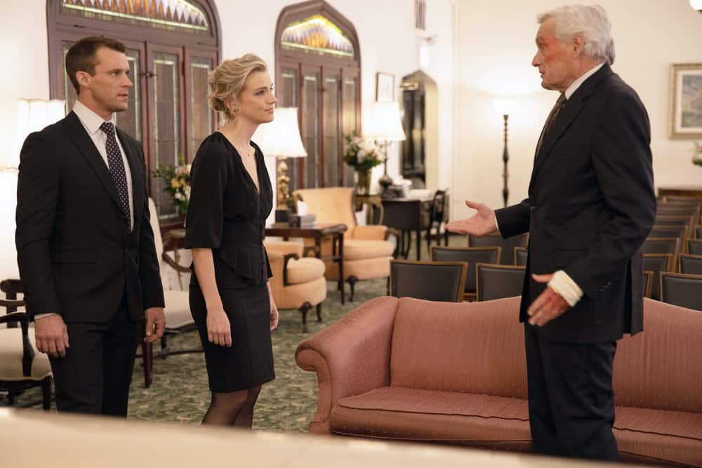 Chicago Fire Season 8 Episode 13 - Jesse Spencer as Matthew Casey, Kara Killmer as Sylvie Brett, David Selby as Tim Larson